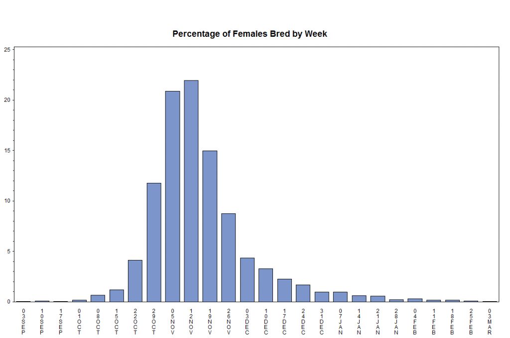 histogram of births by date showing a normal distribution peaked at Nov 13