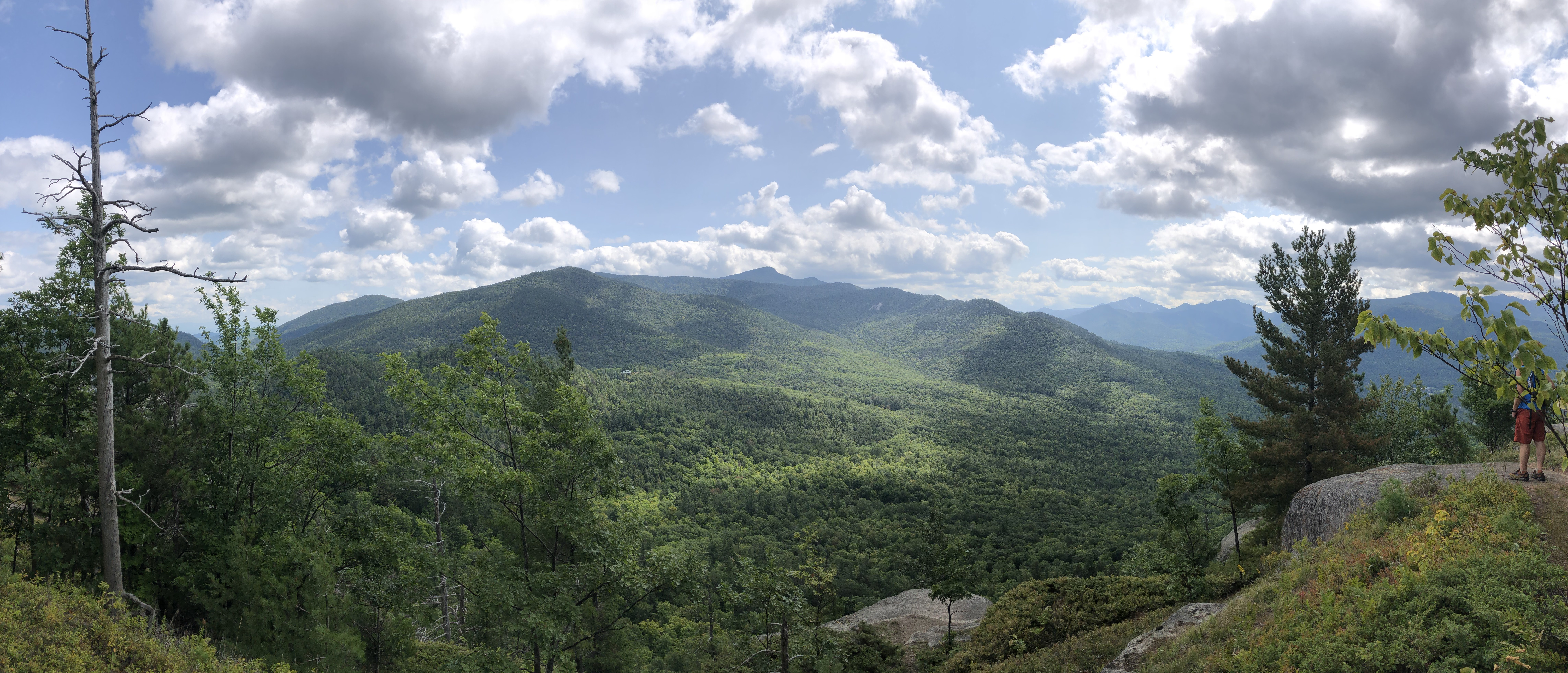 view from mountain top in the Adirondacks